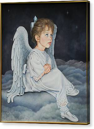 Heavenly Messanger -mahalahk Canvas Print by Ruth Gee