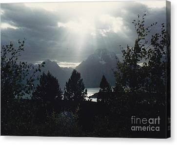 Heavenly Rays Canvas Print by Barbara Plattenburg