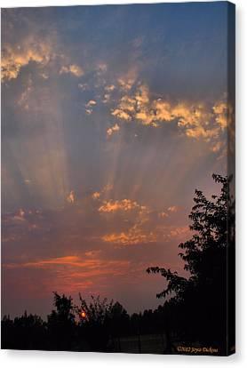 Heavenly Rays Canvas Print by Joyce Dickens
