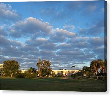 Heavenly Sky Canvas Print by Sheila Silverstein