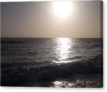 Heavenly Sunset Canvas Print by Jamie Diamond