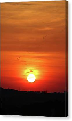 Heavenly Sunset Canvas Print by Mariola Bitner