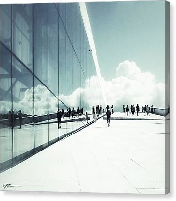 Heavenly Walk In Oslo 2 Canvas Print by Marianne Hope