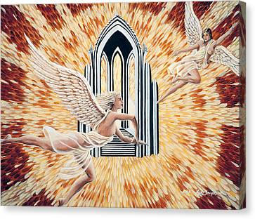Canvas Print featuring the painting Heavens Gate by Kurt Jacobson