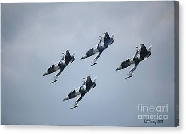 Heavy Metal Jet Team Canvas Print by Susan Stevens Crosby