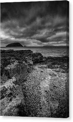 Heavy Sky In Monochrome Canvas Print by Andy Astbury