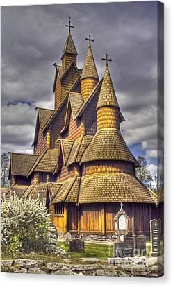 Heddal Stave Church  Canvas Print by Heiko Koehrer-Wagner