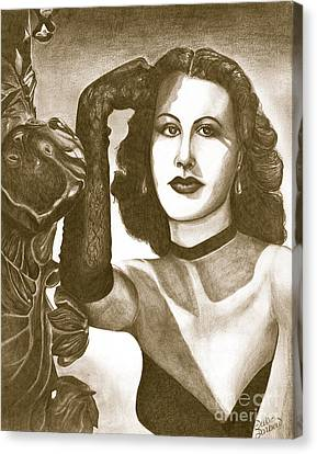 Heddy Lamar Canvas Print by Debbie DeWitt