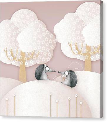 Hedgehogs - May Canvas Print by ©cupofsnowflakes