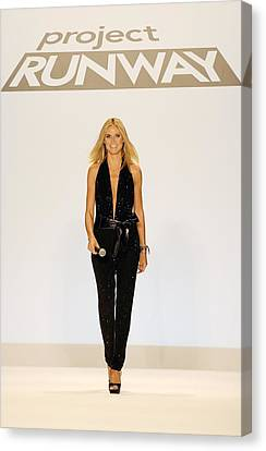 Heidi Klum In Attendance For Project Canvas Print by Everett