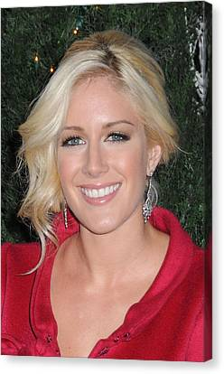 Heidi Montag At Arrivals For Mtv Hosts Canvas Print by Everett
