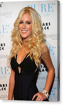Heidi Montag In Attendance For Pures Canvas Print by Everett