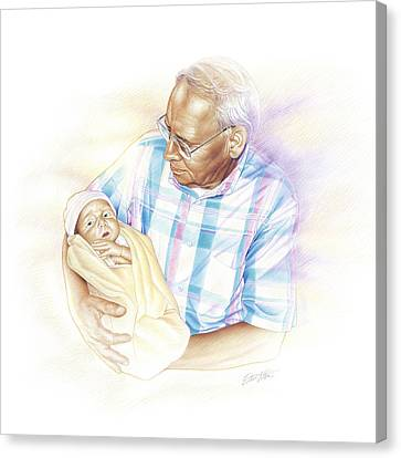 Held From Heaven Canvas Print by Steven Tetlow