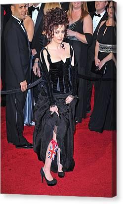 Helena Bonham Carter Wearing A Colleen Canvas Print