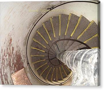 Helical Stairway Canvas Print by Sonali Gangane