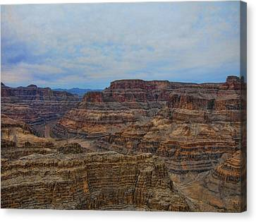 Helicopter View Of The Grand Canyon Canvas Print by Douglas Barnard