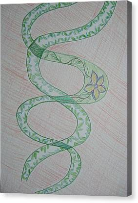 Canvas Print featuring the painting Helix  by Sonali Gangane