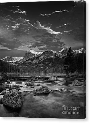 Snow-covered Landscape Canvas Print - Hell Roaring Lake by Keith Kapple