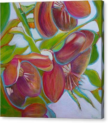 Helleborus Orientalis Canvas Print by Sandrine Pelissier