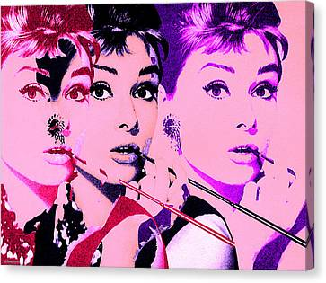 1960 Canvas Print - Hello Audry by Christian Colman