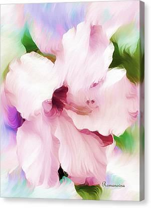 Hello Hibiscus Canvas Print by Georgiana Romanovna