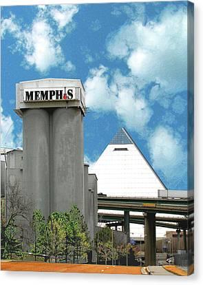 Canvas Print featuring the photograph Hello Memphis by Lizi Beard-Ward