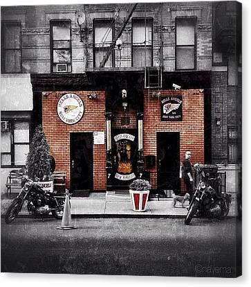 Instamood Canvas Print - Hells Angels Nyc by Natasha Marco