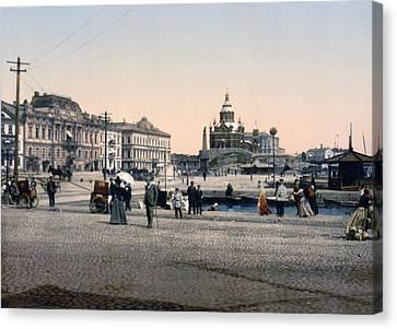 Helsinki Finland - Senate Square Canvas Print by Bode Stevenson