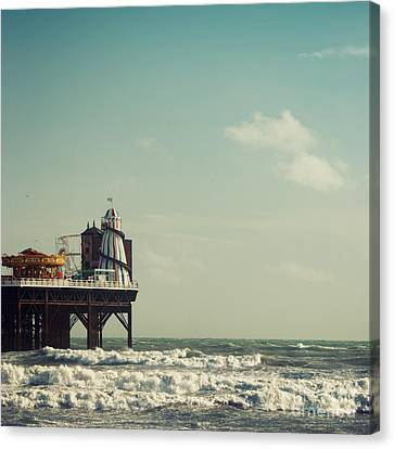 Helter-skelter On Brighton Pier  Canvas Print by Paul Grand