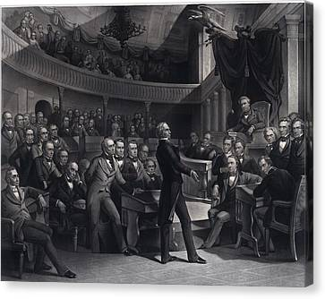 Henry Clay 1777-1852 Addressing Canvas Print by Everett