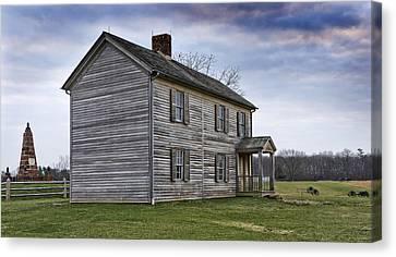 Henry House At Manassas Battlefield - Virginia Canvas Print by Brendan Reals