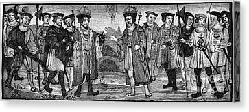 Henry Viii & Francis I Canvas Print by Granger