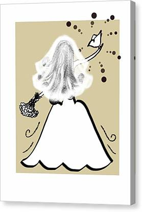 Maid Of Honor Canvas Print - Her Wedding Day by Celestina Quick