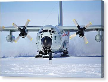 Hercules Lc130h 05 Canvas Print by David Barringhaus