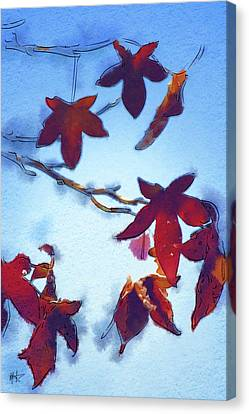 Canvas Print featuring the digital art Here Today by Holly Ethan