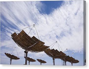 Hermansburg Solar Energy Receiver Array Canvas Print by Stephen Alvarez