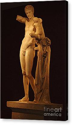 Hermes And The Infant Canvas Print by Bob Christopher