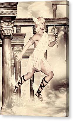 Zeus Canvas Print - Hermes by Lourry Legarde