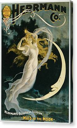 Herrmann Maid Of The Moon Canvas Print by Unknown