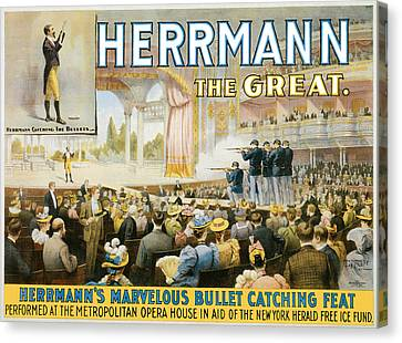 Herrmann The Great Canvas Print by Unknown