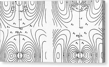 Hertzs Flux Lines Canvas Print by Science Source