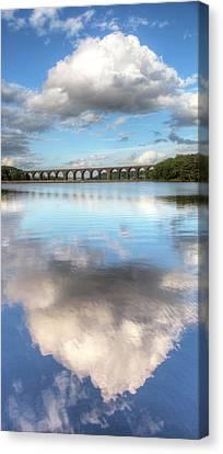 Hewenden Reservoir & Viaduct, Yorkshire Canvas Print by Steve Swis