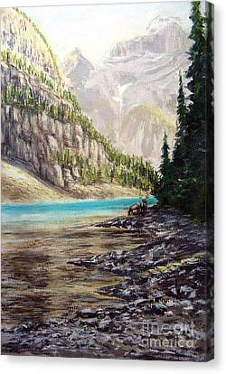 Hidden Gem In The Rockies Canvas Print by Ronald Tseng