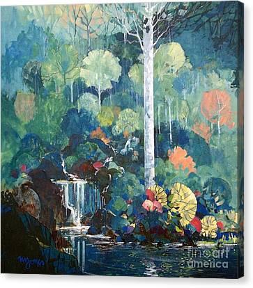 Hidden Waterfall Canvas Print by Micheal Jones