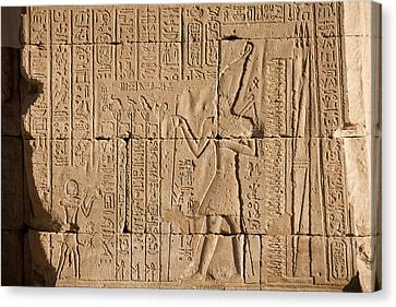 Hieroglyphics Cover The Walls Canvas Print by Taylor S. Kennedy
