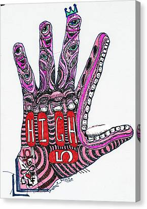 High 5 Yell Canvas Print by Robert Wolverton Jr
