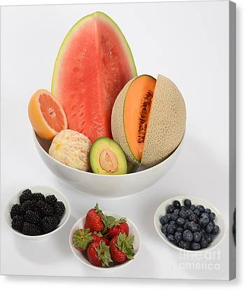 High Carbohydrate Fruit Canvas Print by Photo Researchers, Inc.