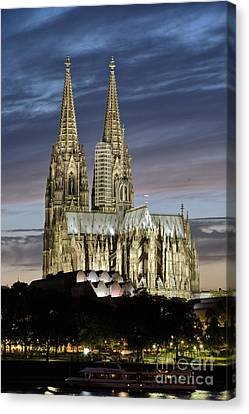 High Cathedral Of Sts. Peter And Mary In Cologne Canvas Print by Heiko Koehrer-Wagner