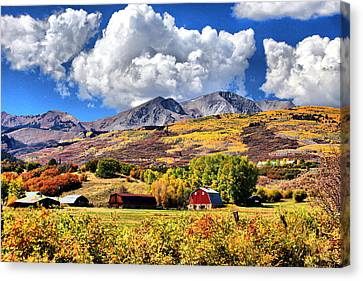 Canvas Print featuring the digital art High Country Living by Brian Davis