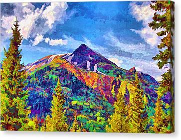 Canvas Print featuring the digital art High Country Pyramid by Brian Davis